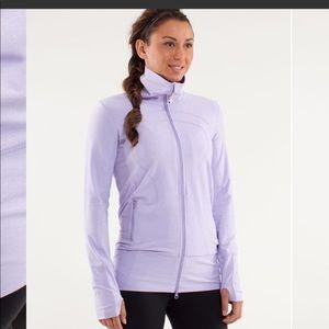 Lululemon In Stride Jacket Heathered Lilac Size 10